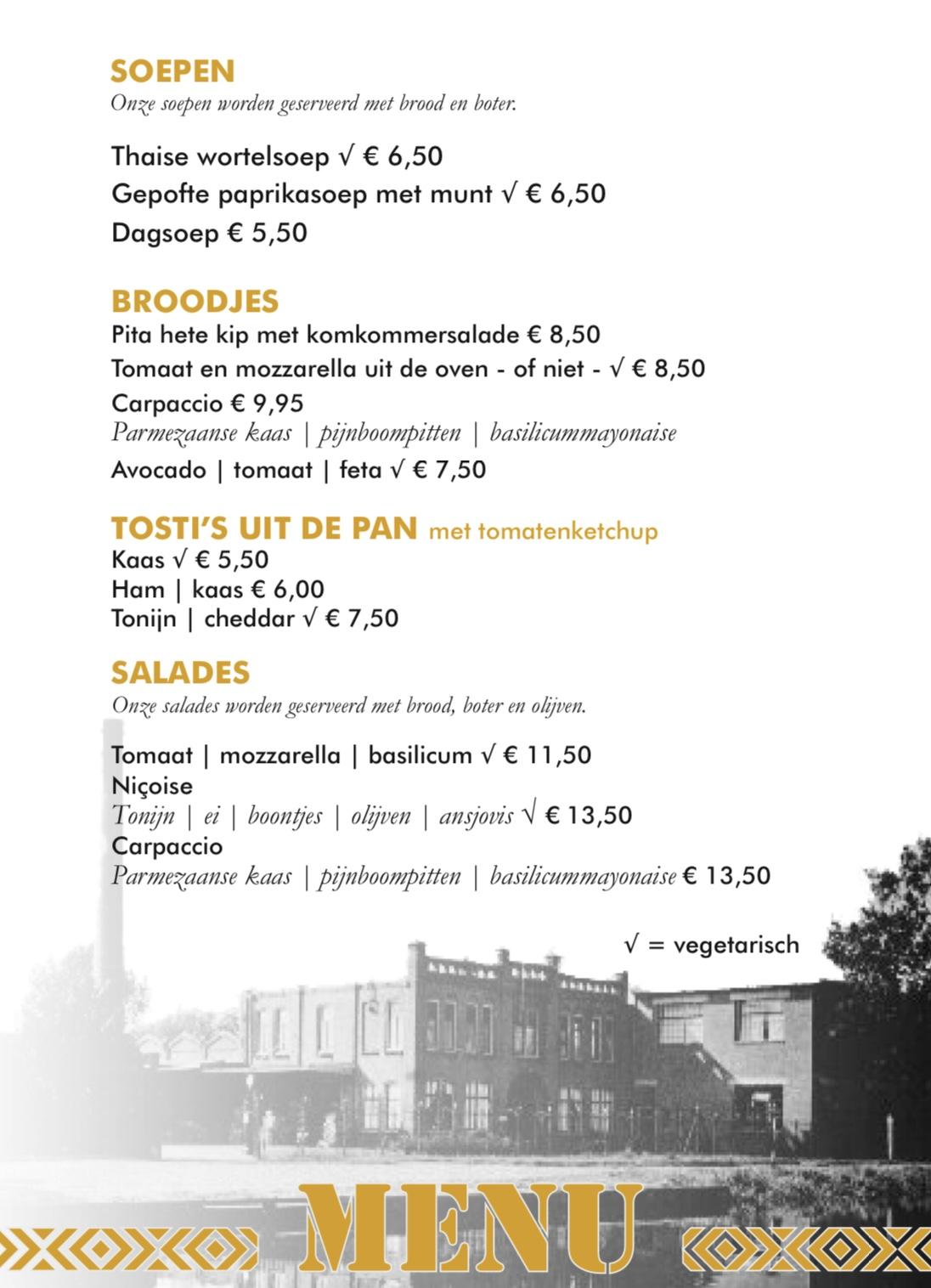 Lunchkaart Kade 10 - Nijkerk